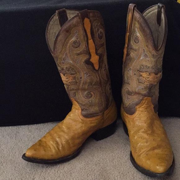 94535304deb El General Ostrich cowboy boots